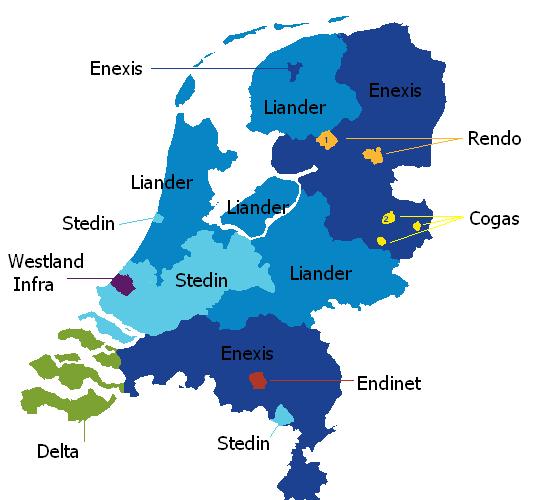 Netbeheerders Nederlands middenspanningsnet